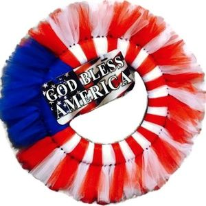 God Bless America Wreath , Patriotic Wreath, Patri